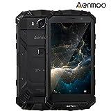 Outdoor Handy, AERMOO M1 IP68 Android 7.0 Wasserdichte Smartphones, Dual SIM mit 4G 5.2' FHD Robustes Smartphone - Helio P25 Octa-core - 6G RAM+64G ROM - 8.0MP+21.0MP - 5580mAh - Schwarz