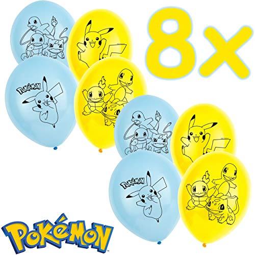 Pokémon: Lot de 6 Ballons de baudruche pour Anniversaire d'enfant et fête à thème | 88 cm de circonférence | Ballon