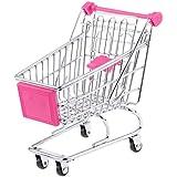Kimberleystore Creative Mini Shopping Cart chariot de supermarché chariot de courses avec siège à rouler Roues (Rosy)