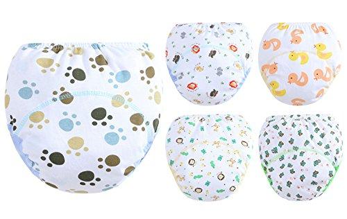 Set mit 5 Höschen Baby-Mädchen-Jungen-Windel-Abdeckungs-Schlüpfer ohne Spitze-Schlüpfer-Baby Unisex ohne Knopf Elastische Größe 24-38 Monate