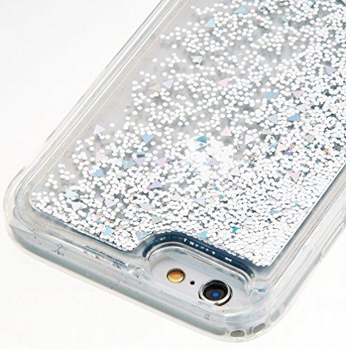 Nnopbeclik [Coque Iphone 6 Silicone / Coque Iphone 6S Silicone] Paillettes Briller Style Transparente Backcover Doux Soft Housse pour Iphone 6 Coque Silicone / Iphone 6S Coque Silicone (4.7 Pouce) Ant argent