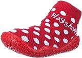 Playshoes Mädchen Aqua-Socke Punkte Dusch-& Badeschuhe, (rot 8), 20/21 EU