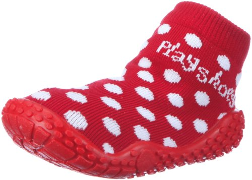 Bild von Playshoes Mädchen Aqua-Socke Punkte Dusch-& Badeschuhe, (rot 8), 28/29 EU