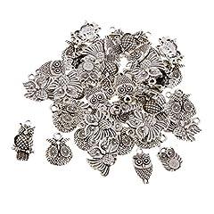 Idea Regalo - Non-brand Charms in Argento Tibetano 50x con Pendenti Misti per Gioielli Artigianali