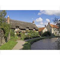20x16 Print of Picturesque thatched cottage at Thornton-le-Dale, North Yorkshire Moors (1147472)