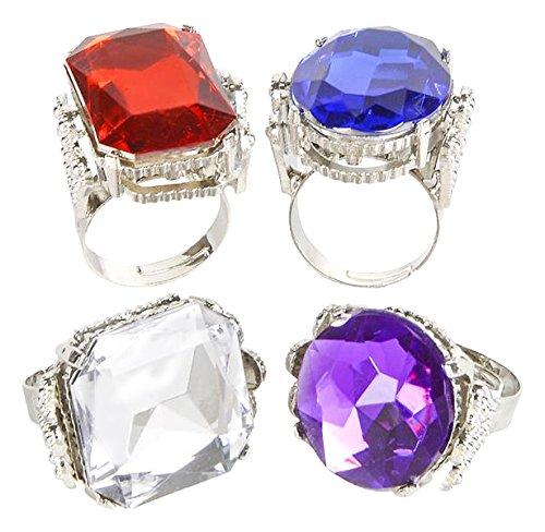Jumbo Jeweled Rings Assortment (1 dz) by Rhode Island (Rhode Island Kostüm)