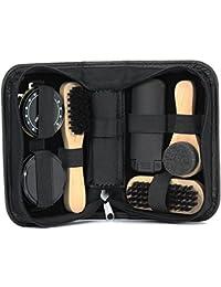 Kit de limpieza para zapatos negro 7piezas ideal para viaje
