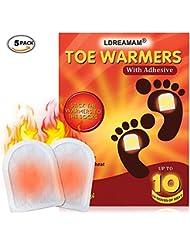 Fußwärmer,Fusswärmer,Zehenwärmer,Toe warmer,Sohlenwärmer Wärmepad, Ultra Dünne Heiz-Pads 10 Stunden Wärmedauer Wärmesohle Fußwärmer Schuhheizung Fußheizung Warme Einlegesohlen Für Alle Wintersportarten,5 Stück
