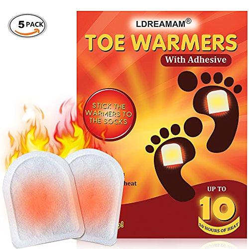 Wärmen Sie Ihre Füße (Fußwärmer,Fusswärmer,Zehenwärmer,Toe warmer,Sohlenwärmer Wärmepad, Ultra Dünne Heiz-Pads 10 Stunden Wärmedauer Wärmesohle Fußwärmer Schuhheizung Fußheizung Warme Einlegesohlen Für Alle Wintersportarten,5 Stück)