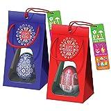 Par de Huevos de Pascua: Rompecabezas de laberinto en 3D, juguetes sorpresa para la búsqueda de huevos y decoración de Pascua, todo en uno para regalarlos como regalos para la Pascua, Azul-Rojo