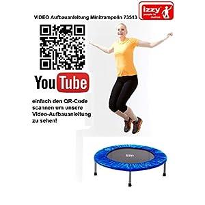 Izzy Fitness-Trampolin Rebound Ø 100cm, 6 Beine, Sprungfläche 76cm, Randabdeckung, Maximalbelastung 100 kg, Ausdauertraining Jumping Fitness