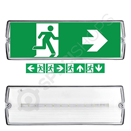 Notbeleuchtung LED, Fluchtwegleuchte, Notlicht, Rettungszeichenleuchte, IP65, Notleuchte, Notausgang Leuchte 3W