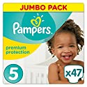 Pampers - Premium Protection - Couches Taille 5 (11-16 kg) - Pack Value+ (x47 couches)