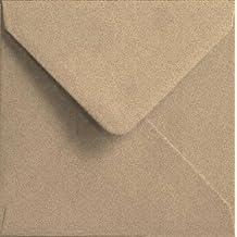 Todokraft - Lote de 50 tarjetas y sobres de papel kraft reciclado (150 x 150 mm)