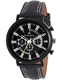 SWISSTONE Analogue Black Dial Men's Watch -Sprt152-Black