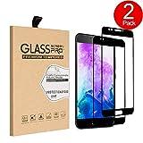 Protection écran Meizu M5, SunFay Film Vitre [Couverture Complète] [2 Pack] Verre Trempé Tactile Ultra Transparent Résistant aux Rayure Easy-Install pour Meizu M5 - Noir