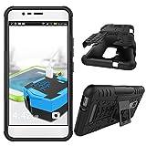 Asus Zenfone 3 Max ZC520TL Custodia, ELTD [Kickstand Series] Doppio strato protettivo ibrido armatura Case Per Asus Zenfone 3 Max 5.2 ZC520TL , Nero