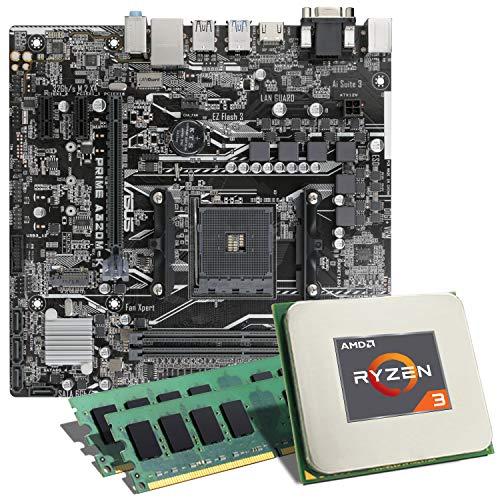 AMD Ryzen 3 2200G / ASUS Prime A320M-K Mainboard Bundle / 16GB | CSL PC Aufrüstkit | AMD Ryzen 3 2200G 4X 3500 MHz, 16GB DDR4-RAM, GigLAN, 7.1 Sound, USB 3.1 | Aufrüstset | PC Tuning Kit