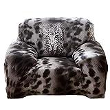 AnySell Loveseat Stretchbezug, elastisch, eng umwickelt, dünne Schonbezüge mit Leopardenmuster, Twin