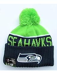 New Era On Field Sport Knit Game NFL Seattle Seahawks Knit Beanies by iCUhcs