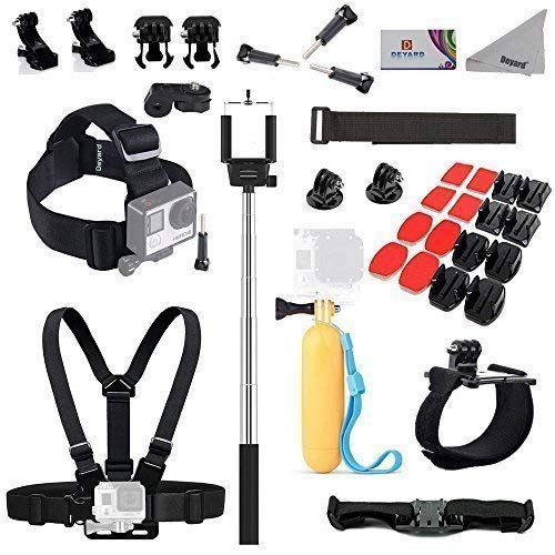 Deyard Accessories Bundle Kit for GoPro Hero 8/7/6/5/4/3 Hero Fusion Max/Session AKASO Crosstour