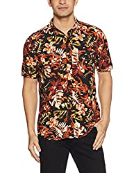 GUESS Mens Casual Shirt (190761683885_M71H18W8F30_Small_Black)