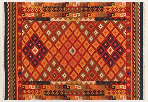 Kilim Carpets by Jalal Alfombra Kilim Sivas 1 Rojo/Multicolor