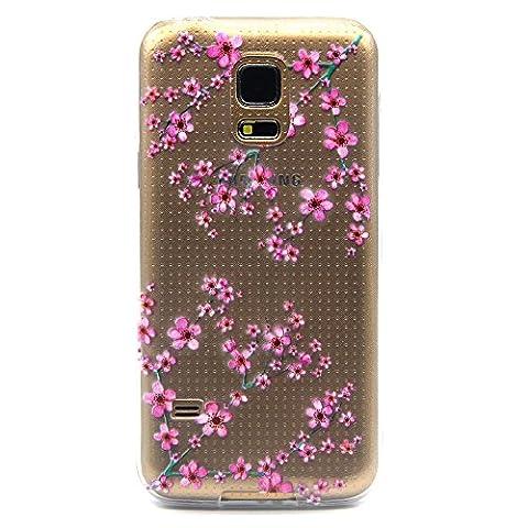 Qissy® Schutzhülle für Samsung Galaxy S5 mini Hülle Schlank Transparent Weicher Gel TPU Silikon Handy Hülle Bunt Telefon Kasten Abdeckung Case (Samsung Galaxy S5 mini, style