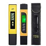 Medidor de PH con Medidor TDS EC 0.00-14.00 Probador de PH Digital con 0-9999 Probador de Calidad de Agua TDS EC con Prueba de Temperatura Luz Retroiluminación Cambiable...