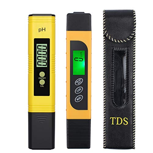 Proster PH Meter with TDS EC Meter 0 00-14 00 Digital PH Tester with 0-9999  TDS EC Water Quality Tester with Color Change Function Temperature Test