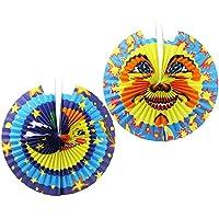 com-four® Laternen mit verschiedenen Motiven, Zuglaterne in verschiedenen Größen, Lampions für Kinder