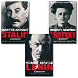 Robert Service A Biography collection 3 books Set, (Lenin, Trotsky and Stalin)
