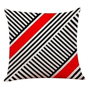 comprar tarima flotante barata online: VRTUR Funda de Almohada Decorativa para el hogar de Lino de algodón Sofá Cintura...