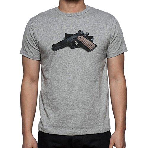 Badass Colt 45 Randomly Puted Herren T-Shirt Grau