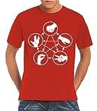 Touchlines T - Camiseta para hombre, tamaño L, color rojo