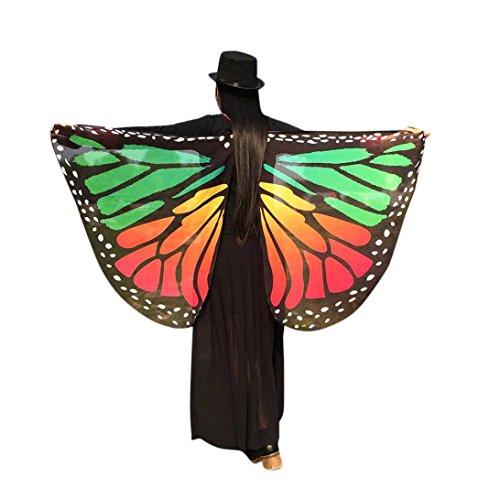 Frau Schal Kolylong® Frauen 147 * 70CM Chiffon weichen Stoff Schmetterling Flügel Schal Kostüm Zu (Kostüm Frau Flügel)