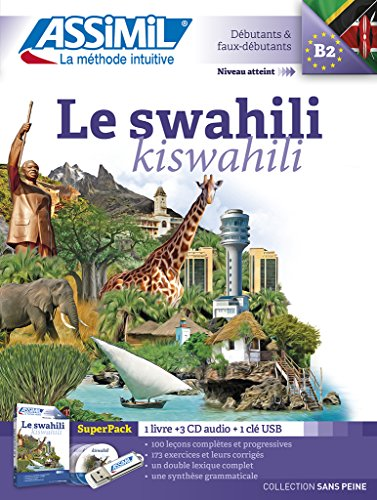 Le swahili superpack : 1 livre + 1 clé USB (3CD audio)