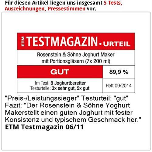 Rosenstein & Söhne Joghurt-Maker für 1 Liter frischen Joghurt - 4