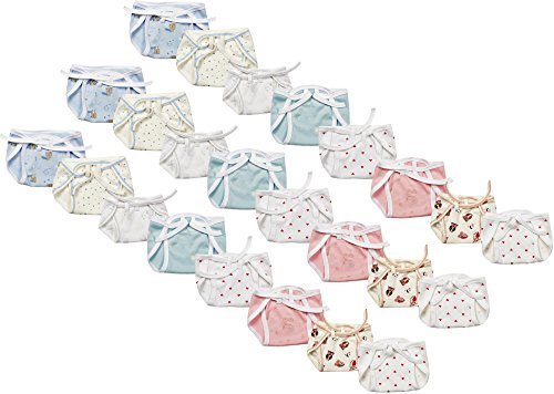 First Step New Born Baby Cloth Diaper, 0 to 3 months (Pack of 24)