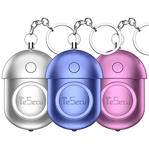 Taschenalarm, 140DB Persönlicher Alarm Panikalarm Schlüsselanhänger mit LED-Licht für Frauen Mädchen, Kinder und ältere Menschen (3 Stück)