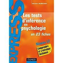 Les tests d'inférence en psychologie : en 23 fiches (Express)
