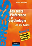 Les tests d'inférence en psychologie : en 23 fiches (Express) (French Edition)
