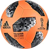 adidas World Cup Winter Fußball, Sorange/Black/Silvmt, 5