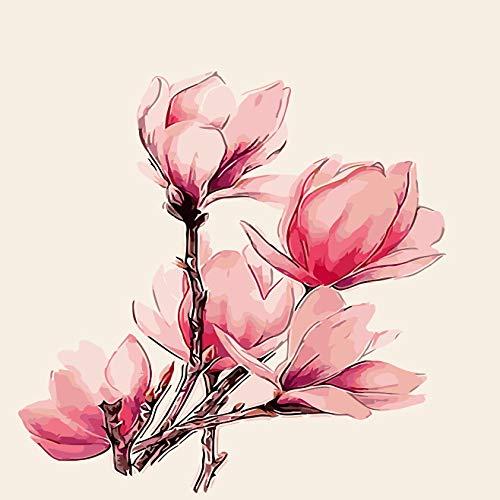 zlhcich Digitale malerei palast Blume Landschaft Wohnzimmer Dekoration malerei System q004-25 mit Rahmen 50 cm * 60 cm
