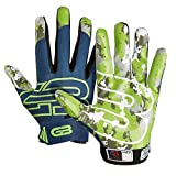 GRIP BOOST Stealth Pro Elite American Football Receiver Handschuhe - blau/grün Gr. L