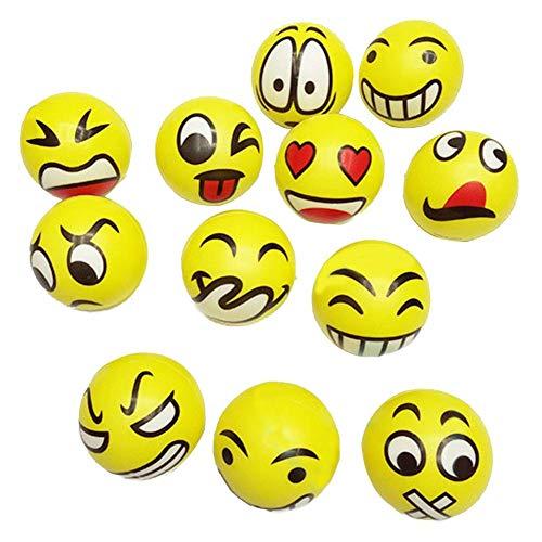 heln Lustige Gesicht Stress Bälle - Happy Smiley Stress Bälle Bulk 2,5