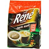 Café Rene Cremé Dark Roast Coffee Pads 252 g (Pack of 2, Total 72 Coffee Pads)