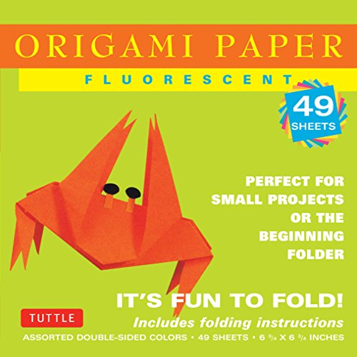 Origami Paper Fluorescent: Perfect for Small Projects or the Beginning Folder: 49 Sheets (Origami Paper Packs) - Fluorescent Origami