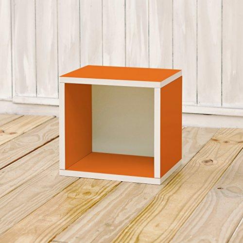 Way Basics 11.2 L x 13.4 B x 12.8 H Eco Stackable Storage Cube and Cubby Organizer, Orange (werkzeuglose Montage und einzigartige Verarbeitung aus nachhaltiger ungiftiger zBoard-Kartonage) - Cube Storage-system