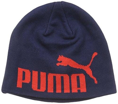 PUMA Herren Mütze Big Cat/No.1 Beanie, Black Iris Red/No1 Logo, One Size